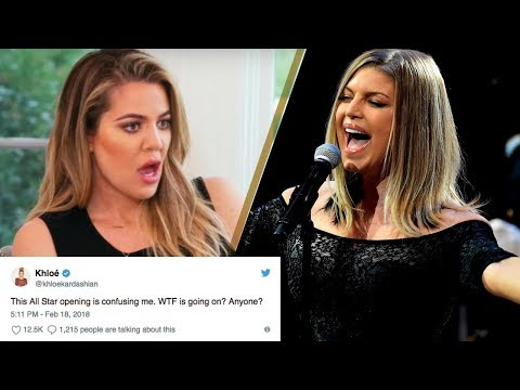 Khloe Kardashian, Celebs ROAST Fergie's CRINGEY National Anthem Performance at NBA All Star Game