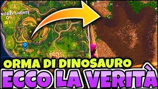SVELATO THE MISTERO of THE DINOSAURO ORMA to BOSCHETTO BISUNTO! FORTNITE ITA REAL VITTORY