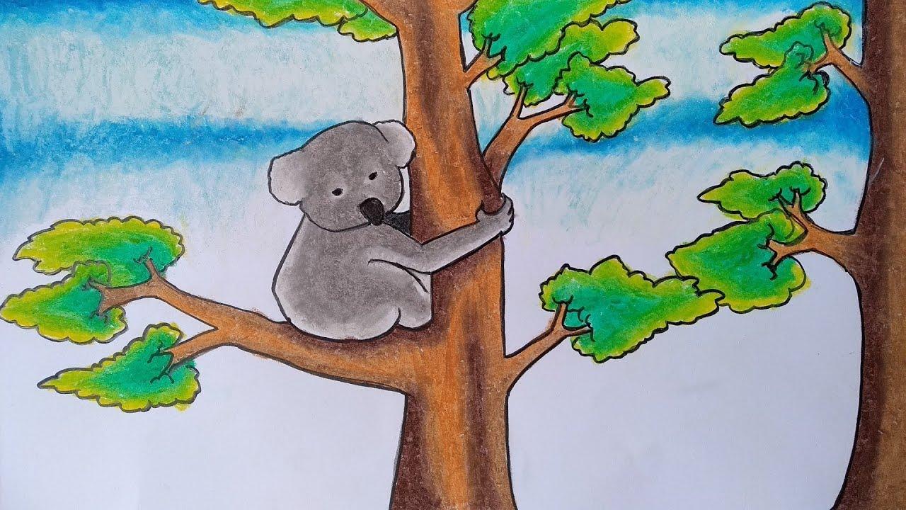 Menggambar Koala Menggambar Koala Di Hutan Cara Menggambar Binatang