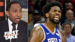 Joel Embiid has to be careful about the NBA being tougher on him - Stephen A. | First Take