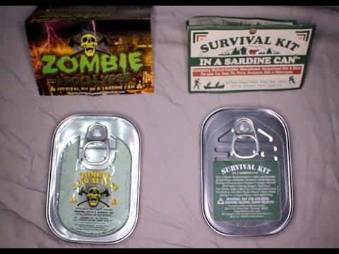 Zombie Apocalypse Survival Kit In A Sardine Can & Survival Kit In A Sardine Can