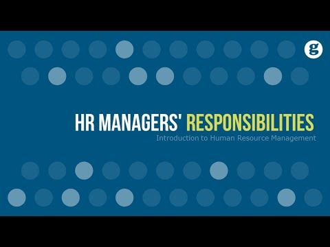 HR Managers' Responsibilities