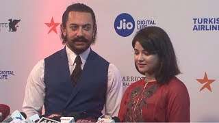 Aamir Khan With Zaira Wasim At Mami Movie Mela 2017