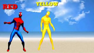 Wow, Incredible spiderman dances for children learning colors, learn colors for kids with superhero