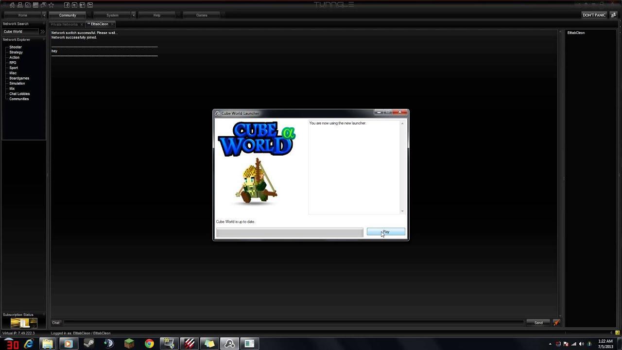 How To Make A Cube World Server Via Tunngle YouTube - Minecraft lan server erstellen tunngle