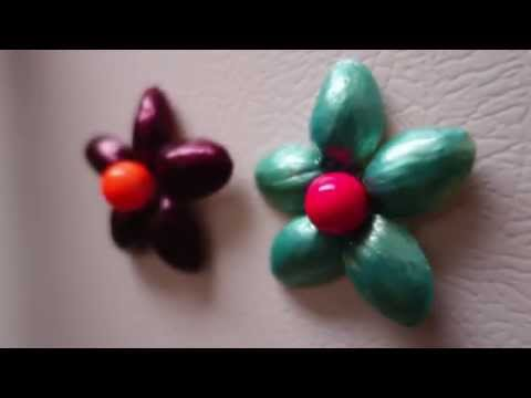DIY Room Decor - Pistachio Shells Fridge Magnets Decor Craft   Simple and Easy   Best out of Waste  