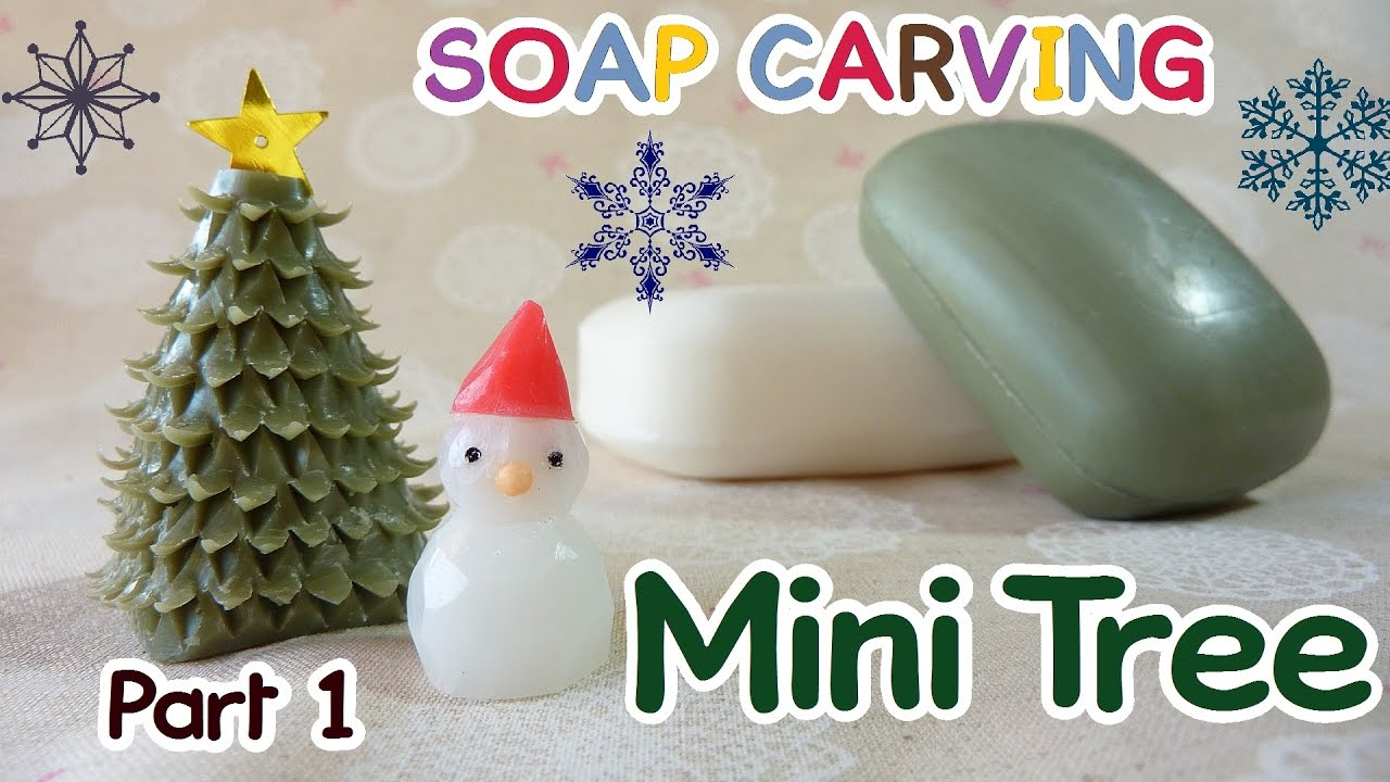 Soap carving easy christmas tree miniature winter