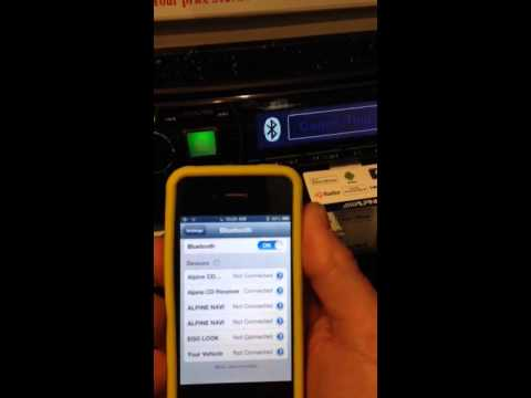How to pair bluetooth to an Alpine
