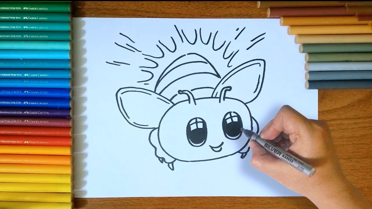 How To Draw A Firefly Step By Step For Kids Youtube