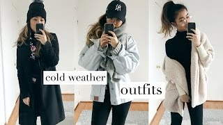 COLD WEATHER OUTFITS + HOW TO LAYER! | rachspeed