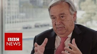 Guterres: 'Suu Kyi can reverse Myanmar situation' - BBC News