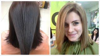 Как покрасить волосы из черного в натуральный цвет // Hair colorblack to light brown.