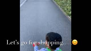 Kid Shopping at Supermarket