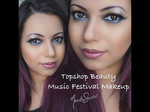 Tutorial |Music Festival Makeup |TOPSHOP BEAUTY