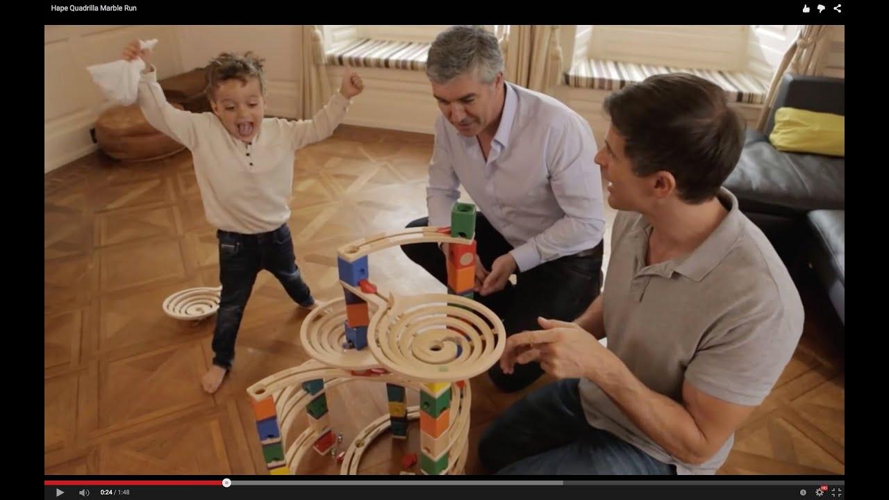 Hapetoys Quadrilla Wooden Marble Run Youtube