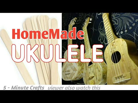 [ DIY ] Awesome Ideas Using Sticks -How To Make a Home made Ukulele from stick - Full Video
