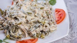 видео Салат из курицы и огурцов