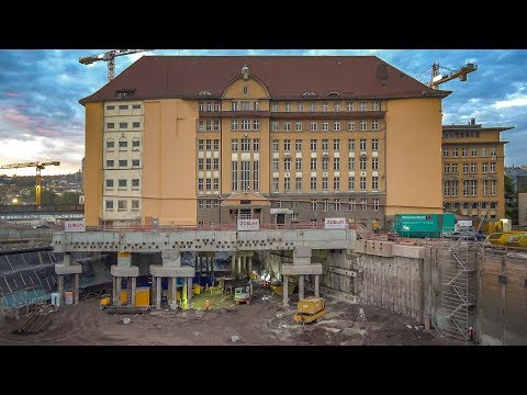 Nur bei Stuttgart 21: Mit 15.000 Tonnen überm Kopf Bohrpfahl-Gründung bohren!! |19.10.17| #S21