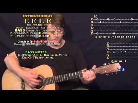 Big Rings (Drake) Guitar Lesson Chord Chart