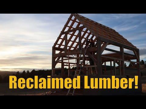 Reclaimed Lumber for the Timber Frame