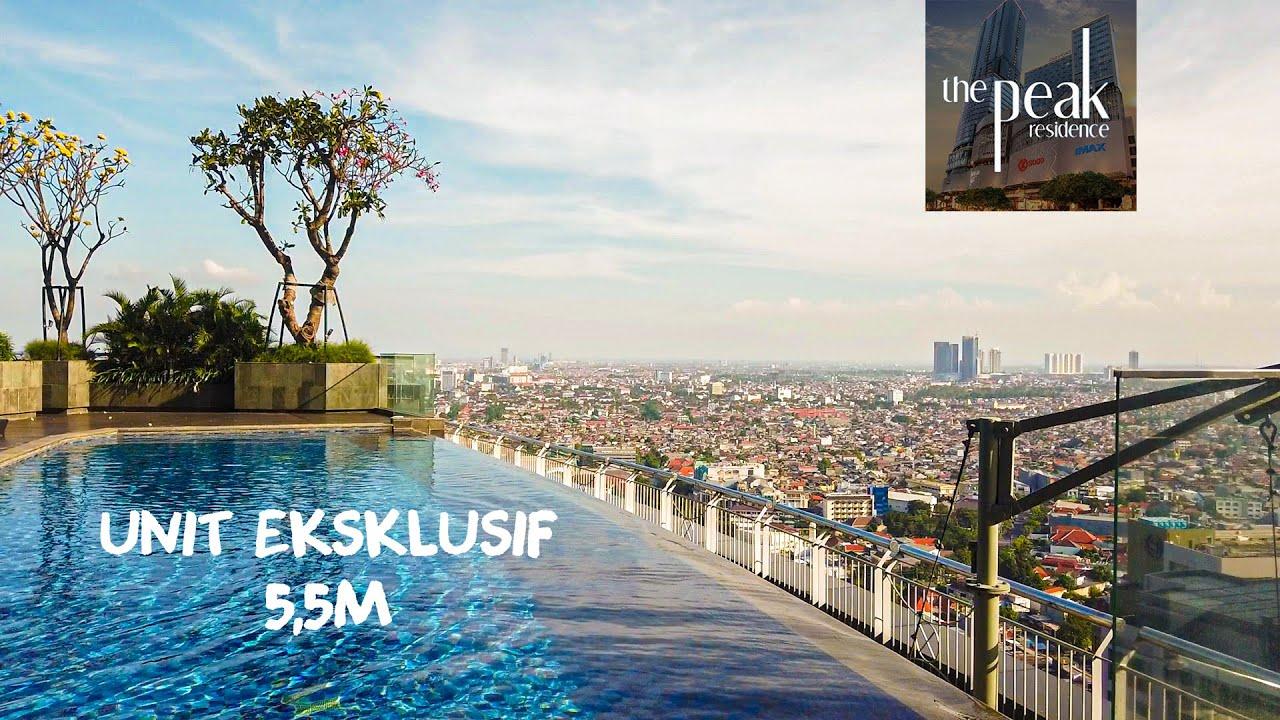 5,5M!!! Unit Penthouse Eksklusif Apartemen Mewah The Peak Residence Surabaya