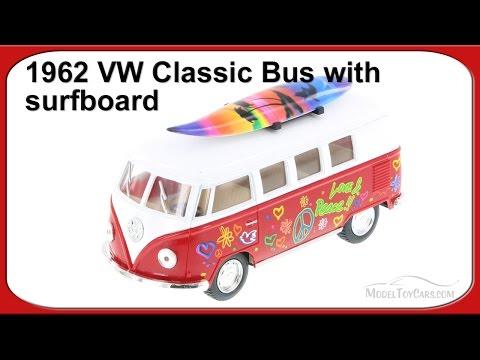 1962 Volkswagen Classical Bus 1:32 scale Die Cast model Kombi surfboard green