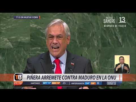 Piñera arremete contra Nicolás Maduro en la ONU