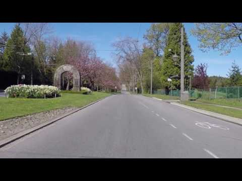 Touring UBC (The University of British Columbia) in Vancouver Canada - Entrance and Golf Course