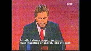 Rune Andersen parodierer Tony Blair