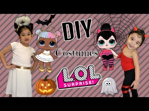 Easy DIY How to Real Life LOL DOLL SUGAR and SPICE || BEST HALLOWEEN Costume Makeover Collab