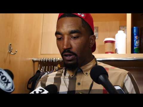 Cavs locker room talk: Kevin Love, J.R. Smith, and Iman Shumpert on Game 1 victory over the Raptors (videos)