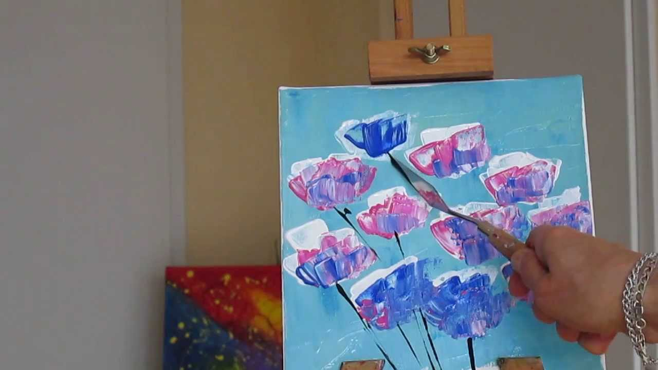 Tanja Bell How To Paint Flowers Poppies Tutorial Palette