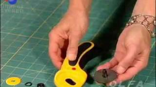 OLFA 45mm Rotary Cutter Blade Change.mpeg