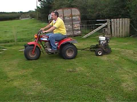 Honda 185s And Home Made Trailed Mower Youtube