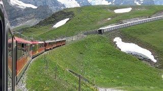 〔ユングフラウヨッホ Top Of Europe〕に挑む⑤、【ユングフラウ鉄道】[Kleine Scheidegg]出発シーン(後編)