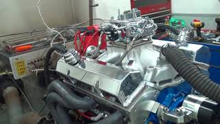 sbc 524hp 383 stroker engine dyno run for les simpson by white performance and machine