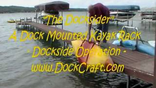 A Dock Mounted Kayak Storage Rack