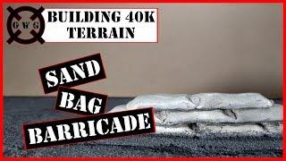 Building 40K Terrain - Sand Bag Barricade