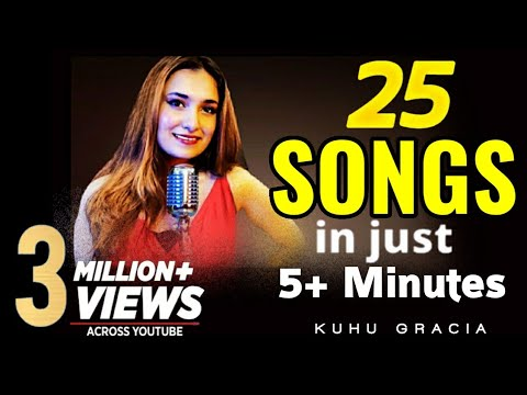 25-songs-in-5+-minutes-|-1-girl-1-beat-|-kuhu-gracia-|-romantic-songs-|-love-mashup