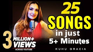 25 Songs in 5+ Minutes | 1 Beat 1 Girl | KuHu Gracia | Romantic Songs | Love Mashup