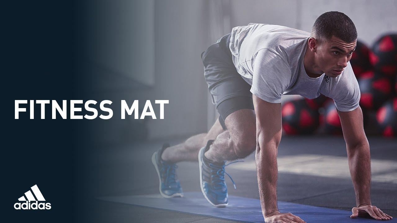 Trastorno Grabar rock  adidas Fitness Mat - YouTube