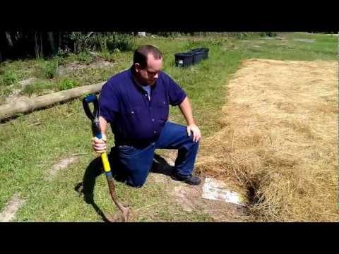 Back to Eden Garden - Soil Preperation