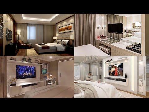 Beautiful modern bedroom Tv wall design ideas