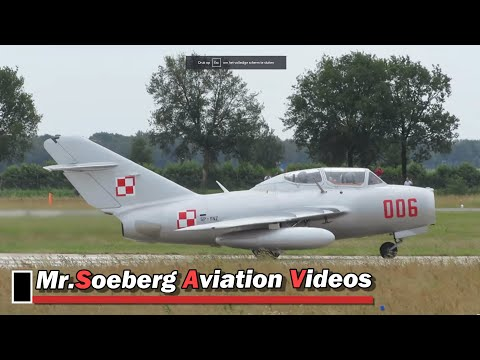 Unforgettable Sound of the Mig 15UTI taking off at Volkel