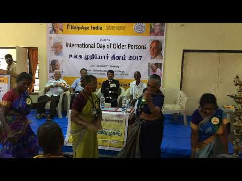 Dance Show by Senior Citizens on the Observance of International Day of Older Persons on 3-10-17,