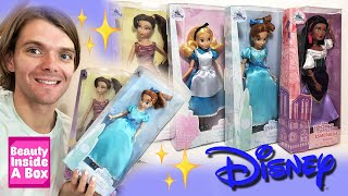 UNBOXING New Disney Store Dolls And Review (Esmeralda, Meg, Wendy And Alice)