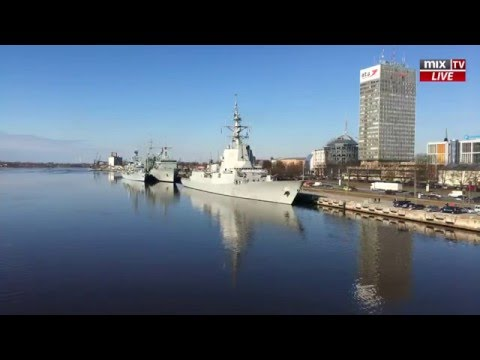 LIVE! Standing NATO Maritime Group 1 in Riga MIX TV