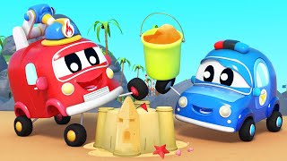 BABIES spend a DAY AT THE BEACH   Baby Trucks   Car City World App