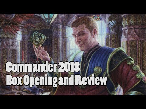 Magic The Gathering Commander 2018 Unboxing And Review