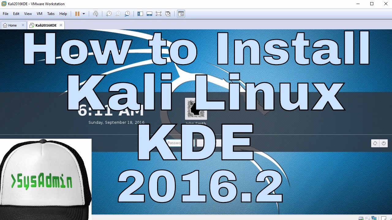 How to Install Kali Linux 2016.2 KDE Plasma 5 + Review + VMware Tools on VMware Workstation